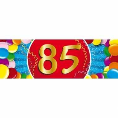 85 jaar leeftijd sticker 19 x 6 cm verjaardag versiering