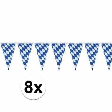 8x oktoberfest versiering vlaggenlijn 10 meter