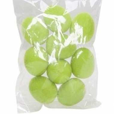 9x versiering paaseieren groen 3,5 cm