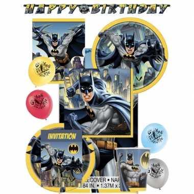 Batman themafeest kinderfeestje versiering pakket 8 personen