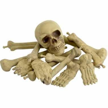 Bot en schedel versiering