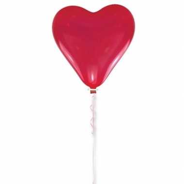 Bruiloft versiering rood hart ballon 70 cm