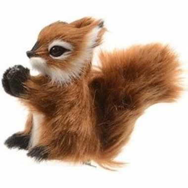 Bruine eekhoorn kerstversiering clip versiering 8 cm