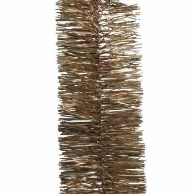 Bruine kerstversiering folie slinger 270 cm