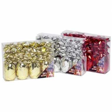 Cadeau verpakking versiering rood set