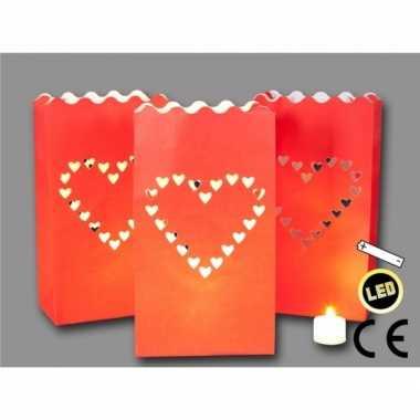 Candle bag versiering lichtjes 3 stuks