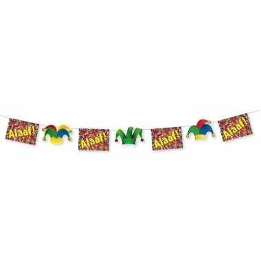 Carnaval thema versiering vlaggenlijn alaaf 3 meter