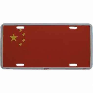 China versiering bordje