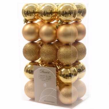 Christmas gold kerstboom versiering kerstballen goud 30 x