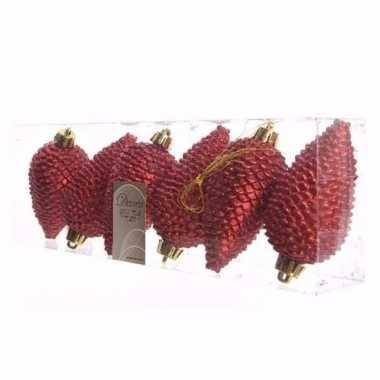 Christmas red glitter rode dennenappel hangversiering