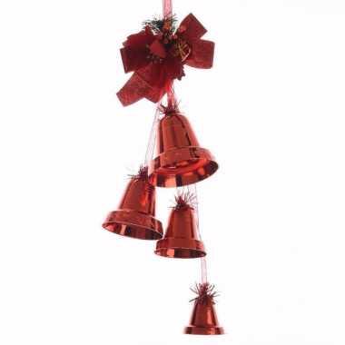 Christmas red rode kerstversiering bellen 50 cm