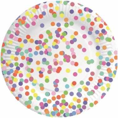Confetti versiering bordjes 8 stuks