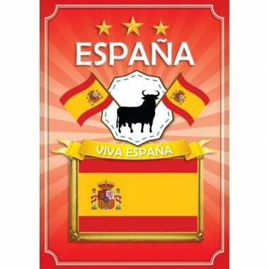 Deurposter viva espana rood versiering