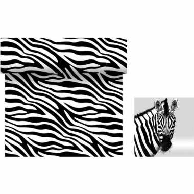 Dieren thema tafelversiering set zebra tafelloper/servetten