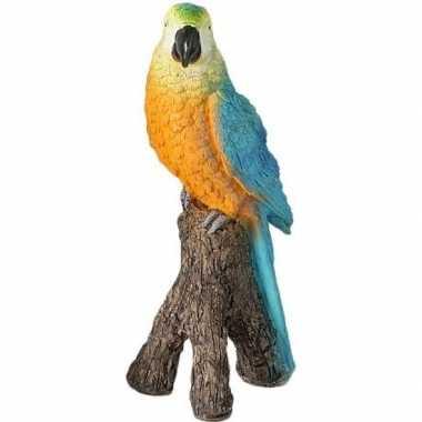 Dierenbeeld blauwe ara papegaai vogel 21 cm versiering