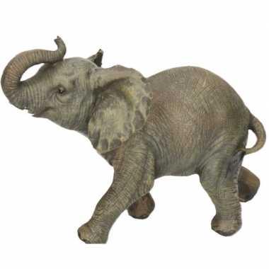 Dierenbeeld olifant 19 cm woonversiering