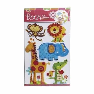 Dierentuin stickers kamer/raamversiering 3d voor kinderen