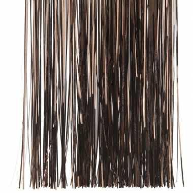 Donker bruine kerstversiering folie slierten 50 cm