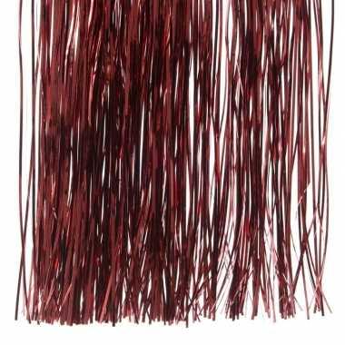 Donker rode kerstversiering folie slierten 50 cm