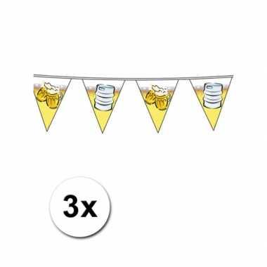 Drie versiering bier vlaggenlijnen van 10 meter