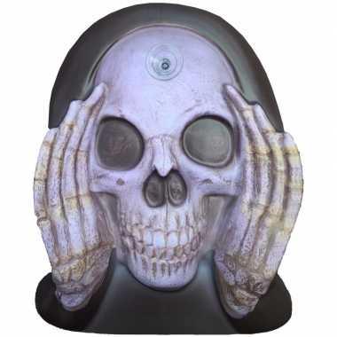 Enge gluurder skelet hoofd versiering