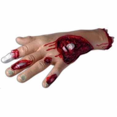 Enge halloween versiering bloederige hand
