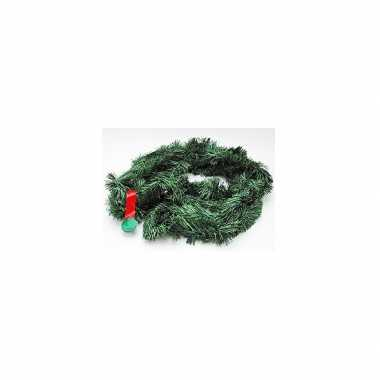 Feestmis versiering groene slinger 5 m