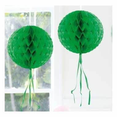 Feestversiering donker groene versiering bol 30 cm