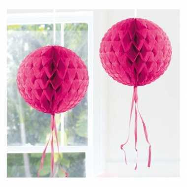 Feestversiering fel roze versiering bol 30 cm