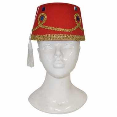 Fez hoed met versiering voor volwassenen