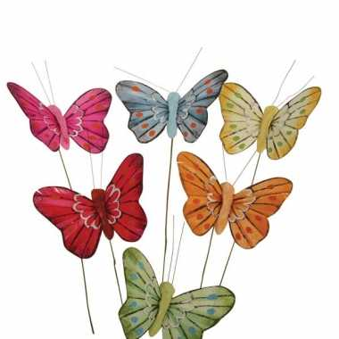 Gekleurde vlindertjes versiering