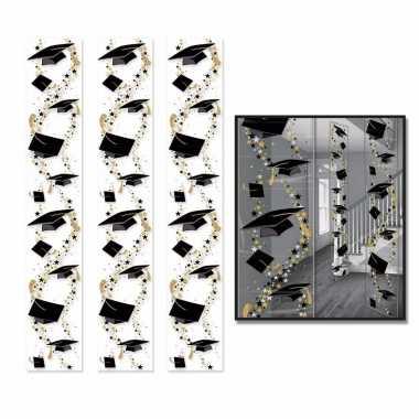 Geslaagden ophangversiering 183 x 30 cm 3 stuks