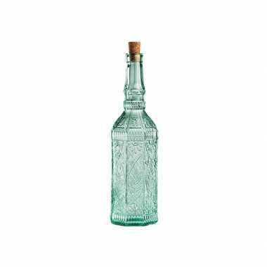Glazen versiering flessen met kurk
