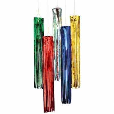 Glitter party versiering hangers zilver 80 cm