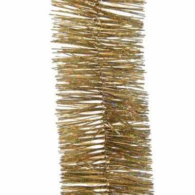 Gouden glitter kerstslinger 7 x 270 cm kerstboom versieringen
