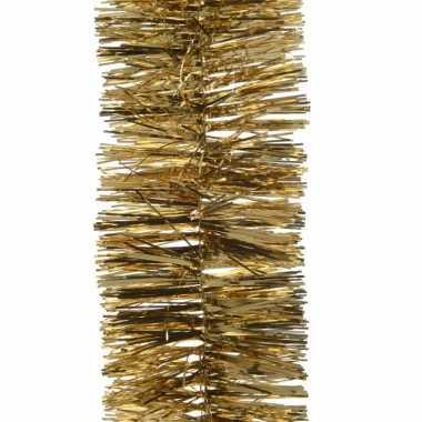Gouden kerstslinger 7 x 270 cm kerstboom versieringen