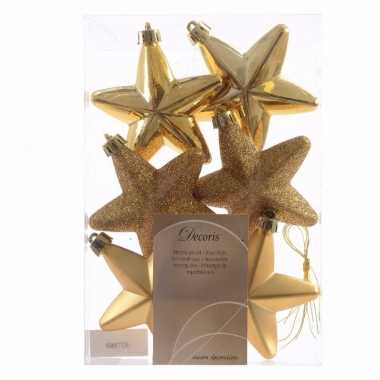 Gouden kerstversiering sterren