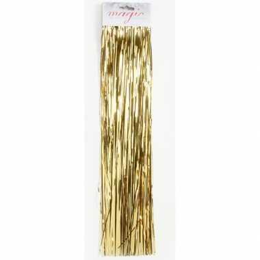 Gouden lametta engelenhaar 50 cm kerstboomversiering