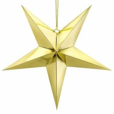 Gouden ster 30 cm kerst versiering/versiering