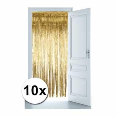 Gouden versiering voor de deur 10 st