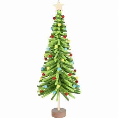 Groen vilten kerstboompje versiering 45 cm