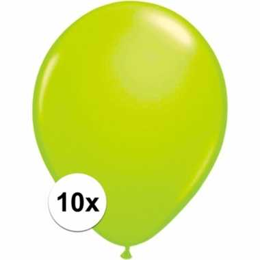 Groene versiering ballonnen 10 stuks 10091410