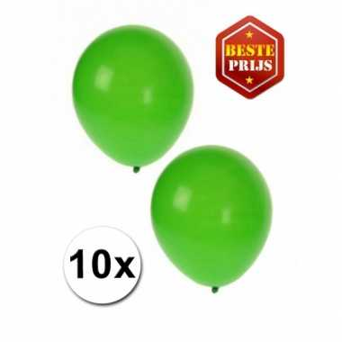 Groene versiering ballonnen 10 stuks