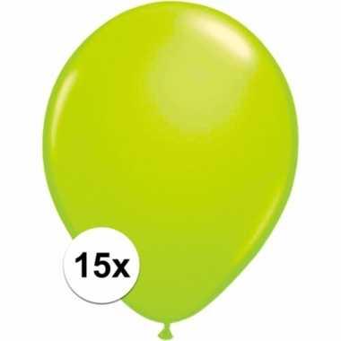 Groene versiering ballonnen 15 stuks