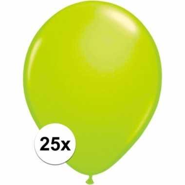 Groene versiering ballonnen 25 stuks