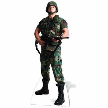 Groot versieringbord amerikaanse soldaat