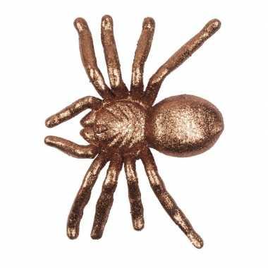 Halloween gouden grote halloween versiering spin met glitters