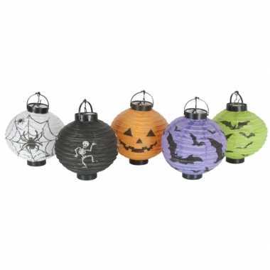 Halloween halloween versiering lampionnen setje 10 stuks
