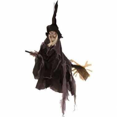 Halloween heks hangversiering pop zwart 50 cm halloween versiering