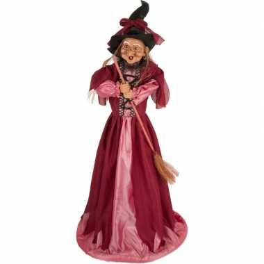 Halloween heks versiering pop fuchsia roze 70 cm halloween versiering